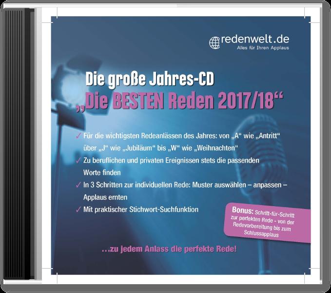 """Die große Jahres-CD """"Die besten Reden 2017/18"""" - PROmedia"""